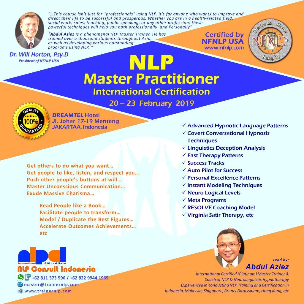 NLP Master Practitioner - International NLP